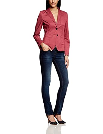 More & More Damen Blazer 41016001, Einfarbig, Gr. 34, Rosa (raspberry)
