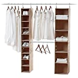neatfreak 5666-ST closetMAX 3 Piece Kit with 6 & 10 Shelf Storage Organizers with Double Hanging Expandalbe MAXbar