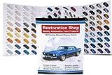 144 Restoration Shop COLOR CHART-AUTO/CAR PAINT CHIPS