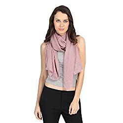 FabSeasons Purple Solid Cotton Unisex Scarf, Scarves, Stole and Shawl for Men & Women for all Seasons