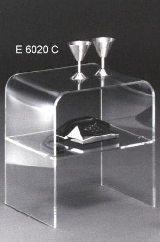 zeitloser-Beistelltisch-in-U-Form-aus-Acrylglas-mit-Mittelplatte
