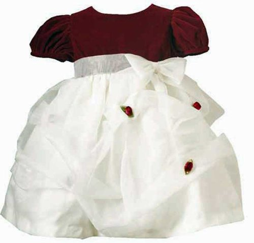 CLEARANCE New Burgundy Velvet Puffed Pageant Dress ~ 12M to 24M ~ Christmas Holiday