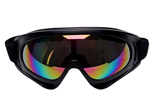 ALLMILL UV Protection Outdoor Sports Ski Glasses Windproof Snowmobile Bicycle Motorcycle Protective Glasses Ski Goggles-CS Army Tactical Goggles (Colorized) (Mojo Replacement Motor compare prices)