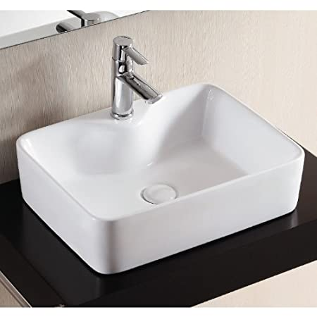 Caracalla Caracalla CA4569A-One Hole-637509844875 Ceramica II Collection Bathroom Sink, White
