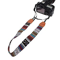 Vintage Soft Multi-Color Universal Camcorder Camera Shoulder Strap Neck Belt for DSLR Nikon Canon Sony Olympus...