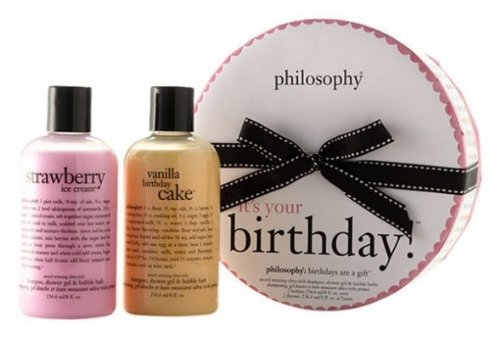 it's your birthday! | shower gel gift set | philosophy