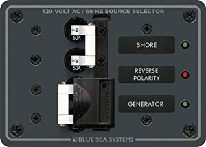 Buy Blue Sea Systems 8061 AC Toggle Source Selector (120v AC 50A) by Blue Sea Systems