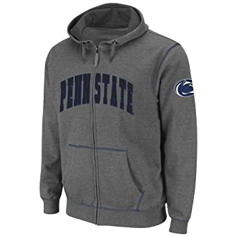 NCAA Penn State Nittany Lions Mens Blackout Full-Zip Fleece Hoodie by Colosseum