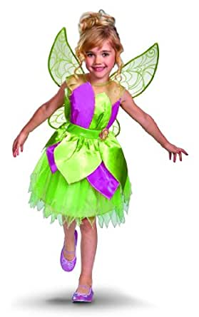 Disguise Disney Fairies Tinker Bell Deluxe Girls Costume, One color