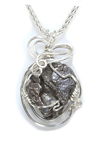 Quality Meteorite Pendant Necklace Sterling Silver