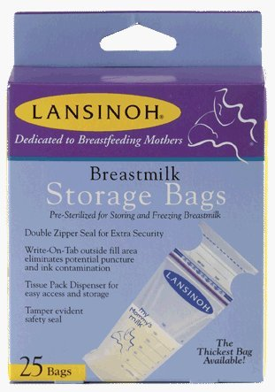 Lansinoh Breastmilk Storage Bags, 50 ct