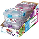 Sistema Klip It Salad to Go Containers with Color Accented Clips and clips colors may vary