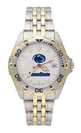 Penn State Nittany Lions Penn State with Lion Head Elite Watch with Stainless Steel... by Logo Art