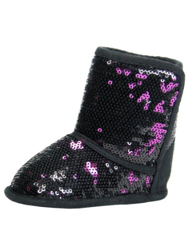 Girls Two-Tone Sequin Baby Boots by Stepping Stones