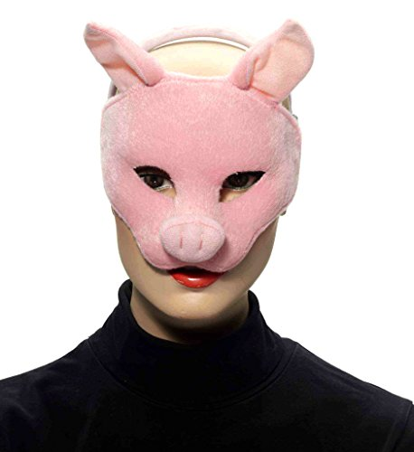 Forum Novelties Deluxe Plush Pink Pig Animal Half Mask