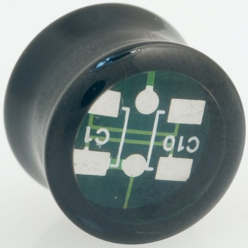 One Acrylic Double Flared Elektro Plug: 10mm Green (SOLD INDIVIDUALLY. ORDER TWO FOR A PAIR.)