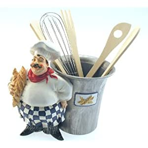 Fat French Italian Chef Utensil Holder Kitchen Home Decor On Popscreen