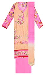 Sree Hamsa Women's Cotton Unstitched Dress Material (Pink)