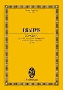 Concerto For Violin Cello Orchestra In A Minor Op102 Miniature Score Double Concerto by Edition Eulenburg