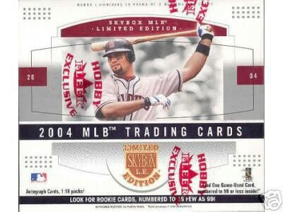 2004 Skybox LE Baseball Cards Hobby Box (18 packs/box)