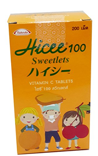 Hicee 100 Sweetlets Vitamin C 200 Tables 1Pcs.