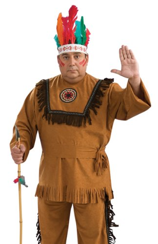 Rubies Costume Co Men's Indian Man Plus Size Costume