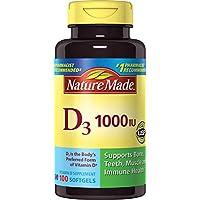 Nature Made Vitamin D3 1000 I.u. Liquid Softgels 100-Count
