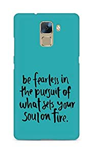 AMEZ be fearless i the pursuit Back Cover For Huawei Honor 7