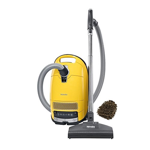 Miele C3 Calima Canister Complete HEPA Parquet Vaccum Cleaner, Canary Yellow (Complete Set) w/ Bonus: Premium Microfiber Cleaner Bundle (Miele Vacuum Cleaner Calima compare prices)