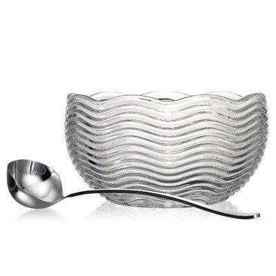 """Capri 10.83"""" Punch Bowl Includes a ladle by Godinger"""