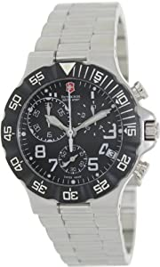 Men's Stainless Steel Summit Chronograph Black Dial Bezel
