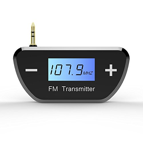 TNP FM Transmitters Wireless Radio AUX Adapter - Mini Universal 3.5mm Plug Jack for Car iPhone 6 5 iPod iPad Android Smartphone Tablet PC Desktop Laptop MP3 MP4 Audio Players Stereo System