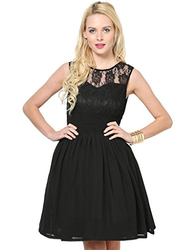 Besiva-Womens-Cancan-Black-Lace-Dress