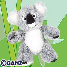 Webkinz Koala plus 2 Packs of Trading Cards - Buy Webkinz Koala plus 2 Packs of Trading Cards - Purchase Webkinz Koala plus 2 Packs of Trading Cards (ganz, Toys & Games,Categories,Stuffed Animals & Toys,Animals)