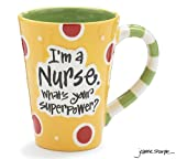 Nurse 12 Oz Coffee Mug/cup with I'm A Nurse What's Your Super Power? Great Gift For Nurses