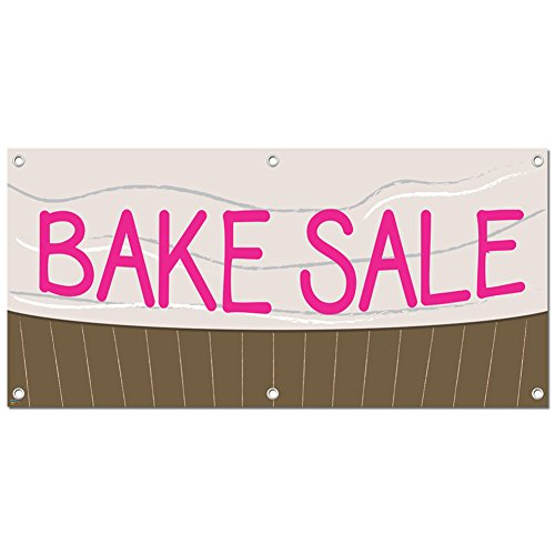 Graphics and More Bake Sale - Fundraiser Sign Banner - 46