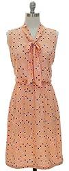 Color Me Vintage Polka Dotted Knee Length Dress with Darling