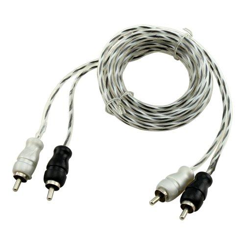 Bullz Audio BSTP15 15-Feet Triple Shielded Spiral Twist RCA Audio Cable