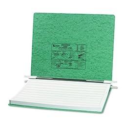 Pressboard Hanging Data Binder, 14-7/8 x 11 Unburst Sheets, Light Green