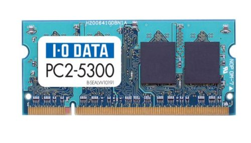 I-O DATA PC2-5300 (DDR2-667) S.O.DIMM 2GB SDX667-2G/EC