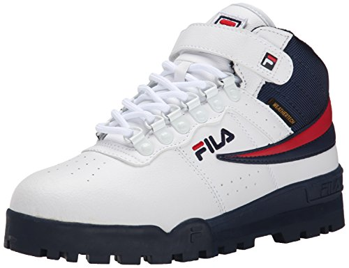 Fila Men's F-13 Weather Tech Hiking Boot, White/Fila Navy/Fila Red, 12 M US