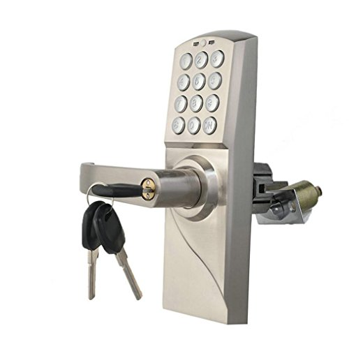 Security Mechanical Lock, Anxinke 2 Functions Home Intelligent Security Mechanical Keypad Code Digital Locker + keyed Entry Door Lock, Can Be Used Alone and Combination (Door Handle Occupied compare prices)