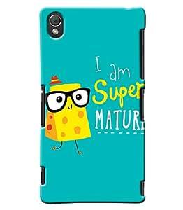 Blue Throat I Am A Super Mature Printed Designer Back Cover/ Case For Sony Xperia Z3