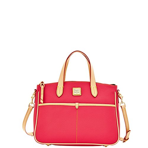 dooney-bourke-carley-small-daniela-satchel-hot-pink-coated-canvas