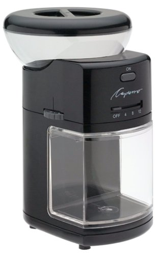 Capresso 551.01 Burr Coffee Grinder, Black