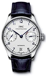 20808917fc8 Review   IWC Portuguese Automatic Steel Blue Mens Watch IW500107