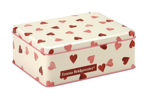 Emma Bridgewater Pink Hearts design - Deep Rectangular Cake Tin