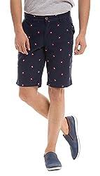 Shuffle Men's Cotton Shorts (8907423003163_2021516701_30_Navy)