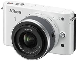 Nikon 1 J2 Compact System Camera with 10-30mm Lens Kit - White (10.1MP) 3 inch LCD