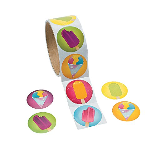 Cool Fun 13596804 Paper Summer Treats Roll Stickers